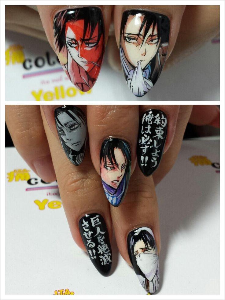 進撃の巨人-リヴァイ兵長(Attack on Titan) : Character nail art