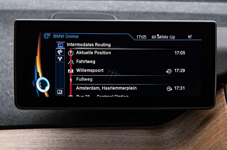BMW i3 navigation system - Intermodal Routing