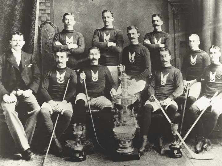 The first Stanley cup winners, the Montreal Hockey Club.
