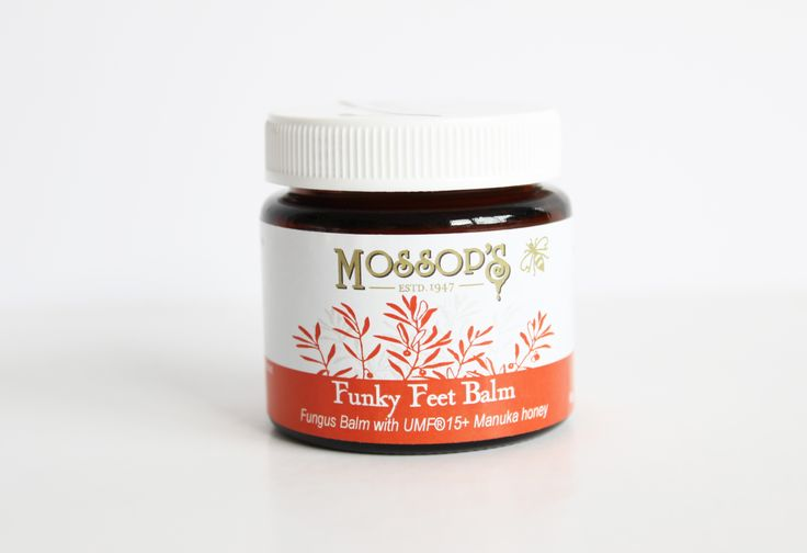 Mossops Funky Feet balm was developed with its own unique blend of plant extracts and enhanced with the healing properties of propolis, safe and suitable for treatment of fungal toenails, ringworm and athletes foot.