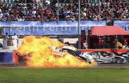 V8 Supercar crash