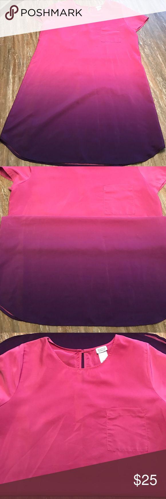 Ombre Mini Dress Ombré Pink and Purple Mini Dress Charming Charlie Dresses Mini