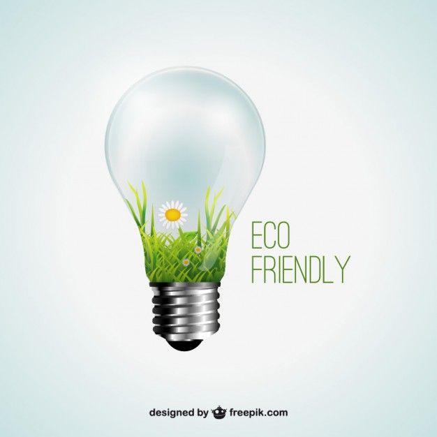Экологически чистый концепт Free Vector
