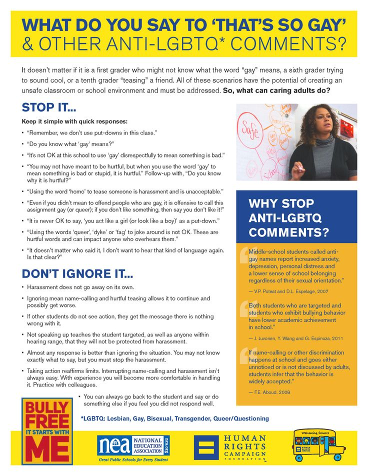 Tips for Educators Dealing with Harassment of LGBTQ Students