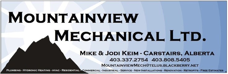 Local Company for your plumbing needs  Mountainview Mechanical. They have a fanpage and a website.  HIGHLY recommended.