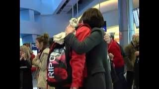 Christmas Homecomings at Dublin Airport - December 2012, via YouTube.