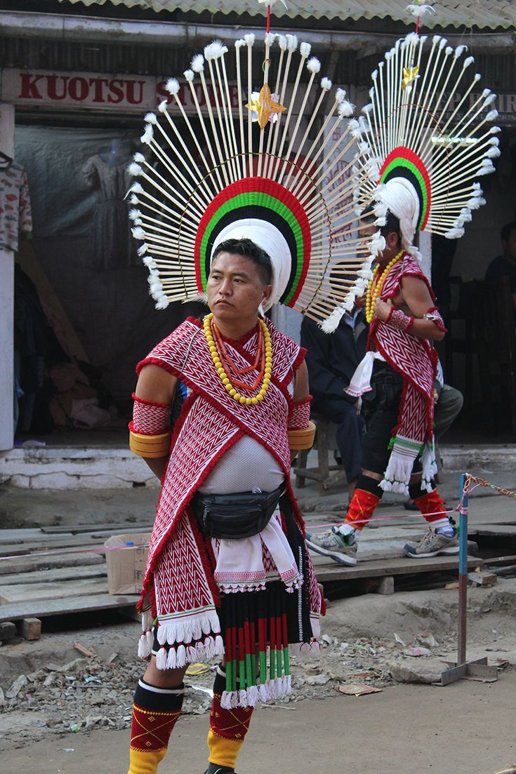 Angami man during the Monolith Pulling event in Kohima, Nagaland