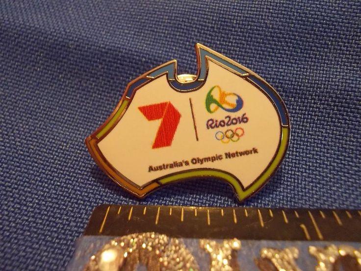 2016 Rio Olympic Media Pin Australia Olympic Network 7