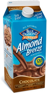 Almond Breeze chocolate is a great substitute for chocolate milk!