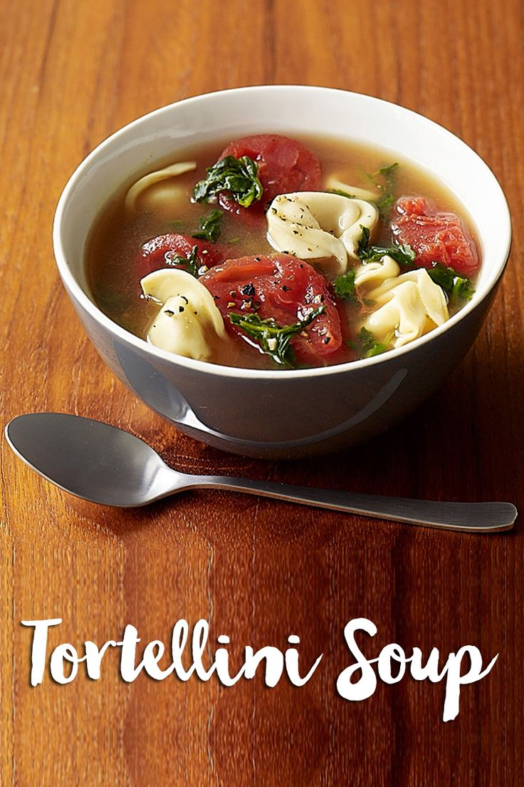 Soup's on! This is the best soup recipe to warm up with. Our tortellini soup recipe is sure to please with lots of 0 #Smartpoints value veggies and tons of flavour.