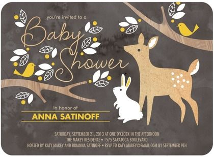 Baby Shower Invitations Woodland Wishes. One of our newest designs on Tiny Prints.