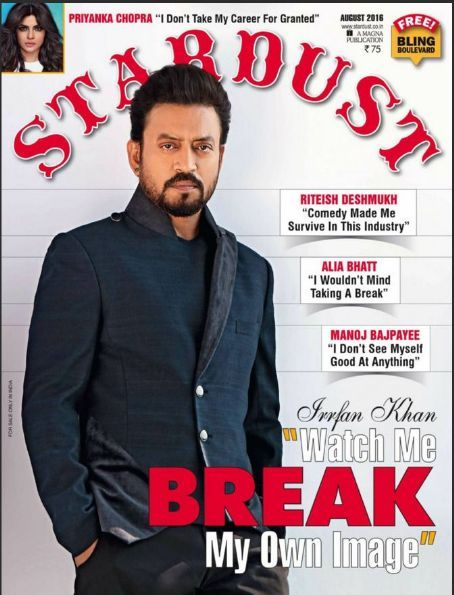 Woah! Is that Irrfan Khan on the cover of Stardust Magazine?