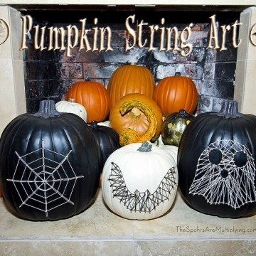 DIY Pumpkin String Art