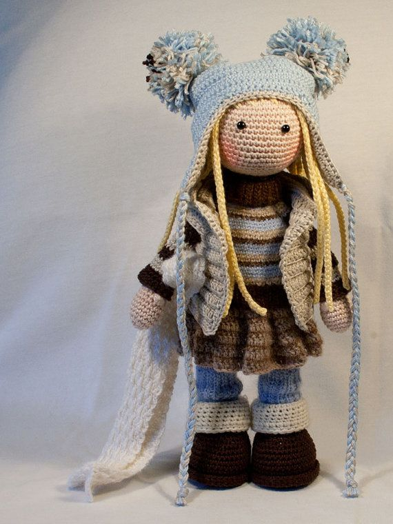 Crochet pattern for doll JOYA pdf Deutsch English by CAROcreated