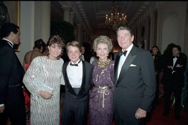 Michael J. Fox and Nancy McKeon | 29 Pictures Of '80s Pop Culture At The Reagan White House