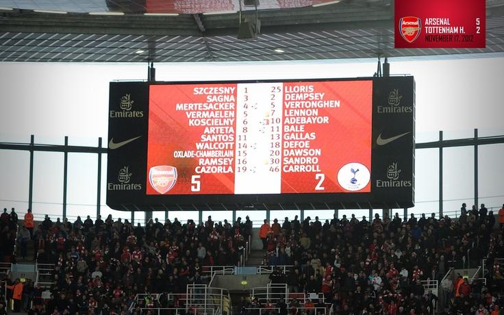 Arsenal 5-2 Tottenham Hotspur :D