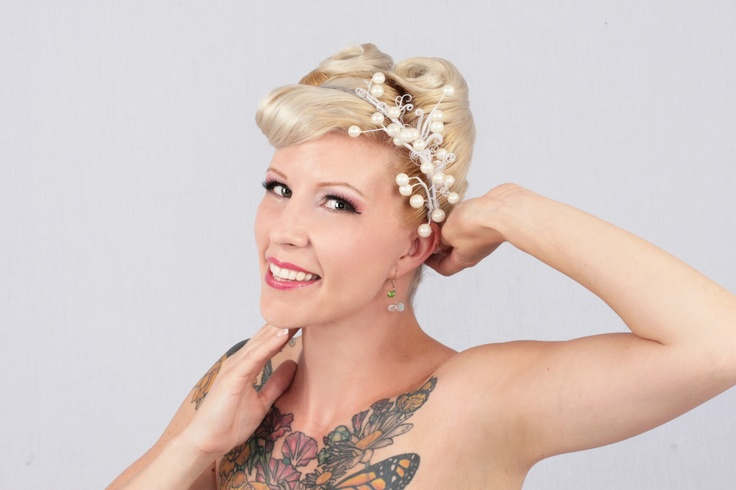Pearls & Curls Headband  www.shiverzdesigns.com