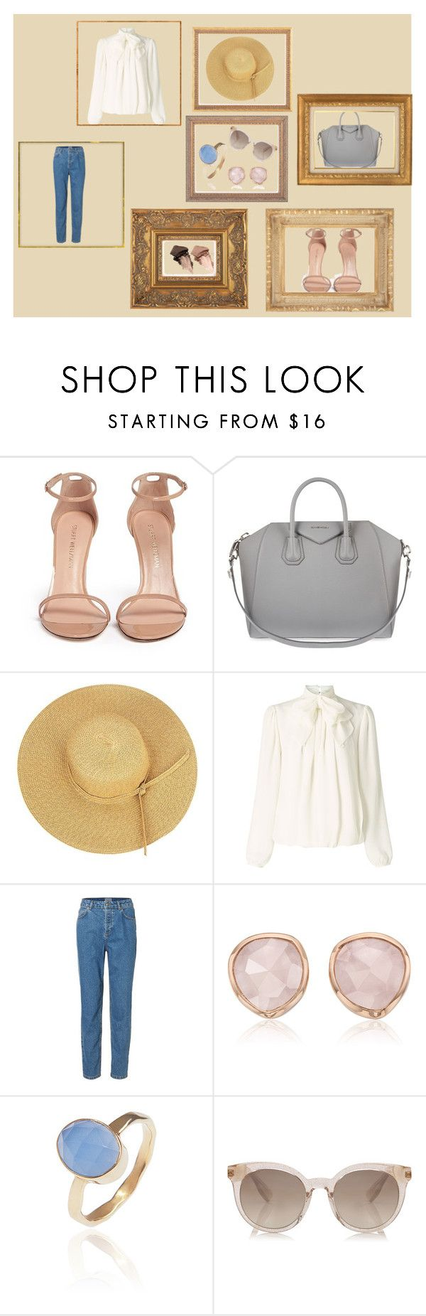 """""""here comes the summer"""" by valentinacabarcasgs-1 on Polyvore featuring moda, Stuart Weitzman, Givenchy, Somerset by Alice Temperley, Monica Vinader, Latelita y Urban Decay"""