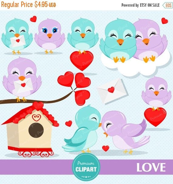 80% OFF SALE Valentines day clipart, Valentine clipart, Love birds, Heart clipart, Bird clipart, Love birds clipart - CA304 by PremiumClipart on Etsy https://www.etsy.com/uk/listing/260515037/80-off-sale-valentines-day-clipart
