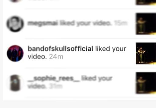 I'MSOHAPPY I posted my performance of 'So Good' (didn't even tag them, just #bandofskulls) and they saw ayeeeee it's just made my day