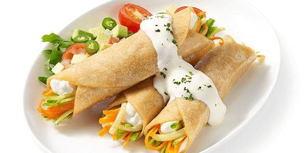Tacos Fritos Vegetarianos