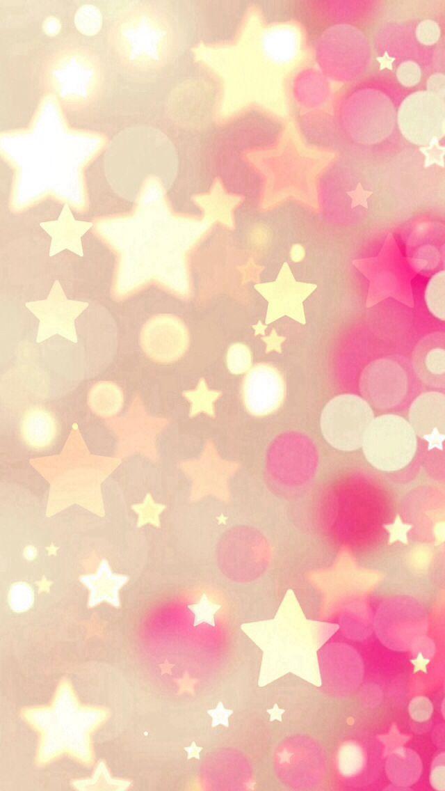 stars pink gold wallpaper