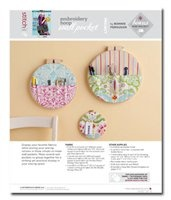 Embroidery Hoop Wall Pocket