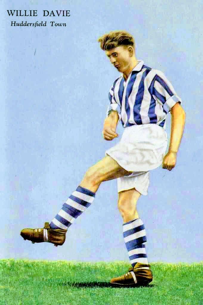 Willie Davie of Huddersfield Town in 1956.
