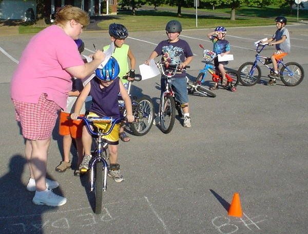 How to Run a Bike Rodeo. Includes directions for Stop on a dime. Newspaper boy.