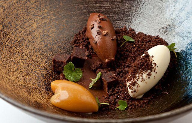 Bitter chocolate textures