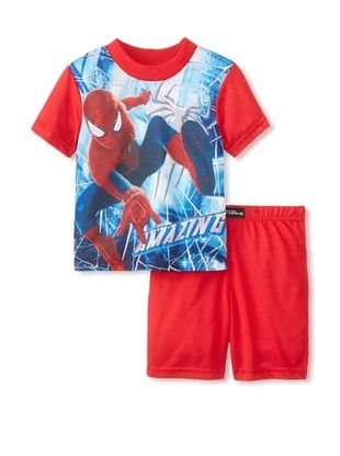 56% OFF Kid's Spider-Man Shorts 2-Piece Pajama Set (Red)