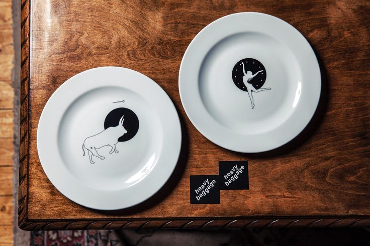 Zeus + Europe Dinner plate set for two / Heavy Baggage Design