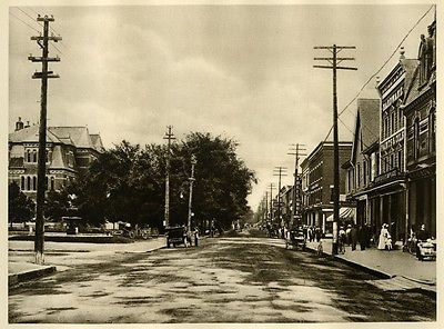 Fredericton-New-Brunswick-CANADA-Genuine-1926-Photogravure-View