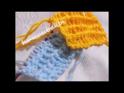 Tunisian Stitch ,tunusian crochet,tunus işi örnek