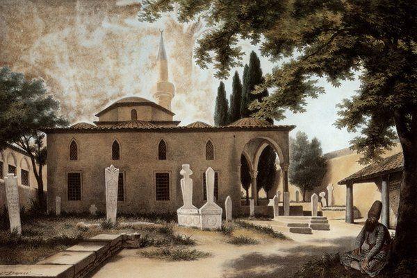 [Ottoman Empire] Tzisdaraki Mosque in Athens, (Greece), 1810s, 'Louis Dupré' (Osmanlı Atina'sı)