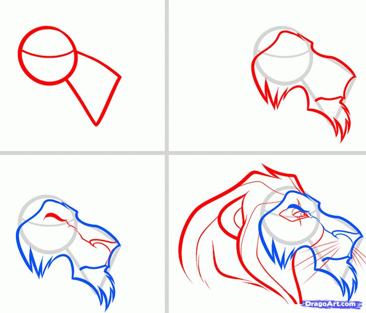 How To Draw Scar Easy, Step By Step, Disney Characters