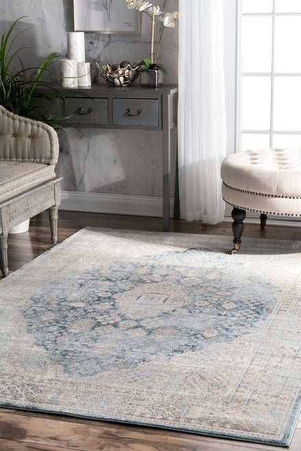 Waverly Mystic Medallion Rug With Images Light Blue Rug Round Carpet Living Room Light Gray Carpet