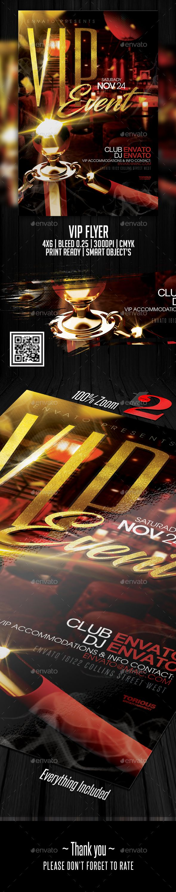#Vip #Event #Flyer Template - Clubs & Parties Events