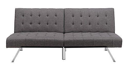 New Modern Linen Sofa Bed Convertible Counch Sleeper Futon Living Room Furniture #KandN