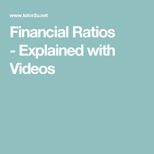 Financial Ratios - Explained with Videos