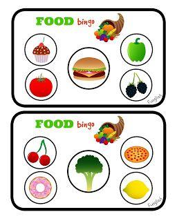 FUNGLISH: Food Bingo