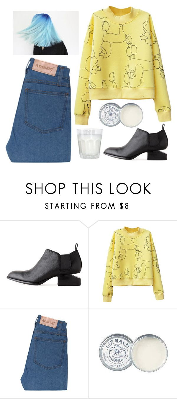 """One of the cool kids"" by slufsa ❤ liked on Polyvore featuring Alexander Wang, Jack Wills, Eclectica, jeans and retro"