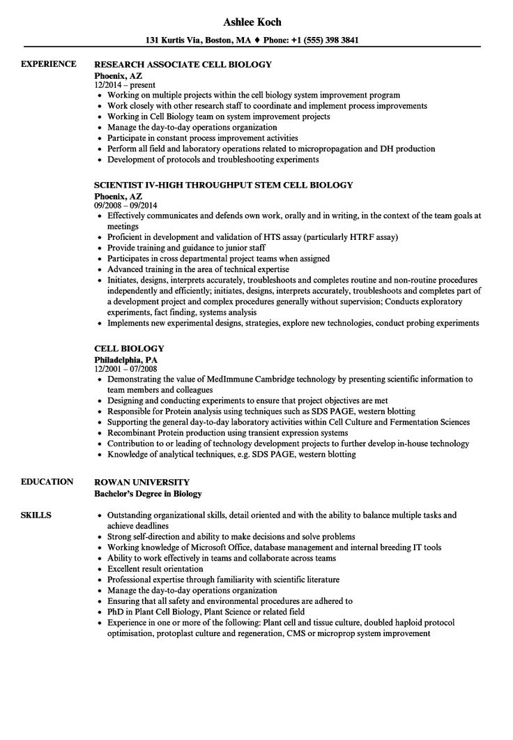Resume Examples Biology Customer service resume examples