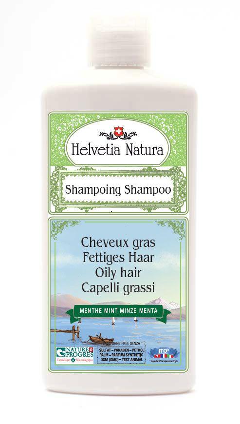 shampoing pour cheveux gras Helvetia Natura :) ;)