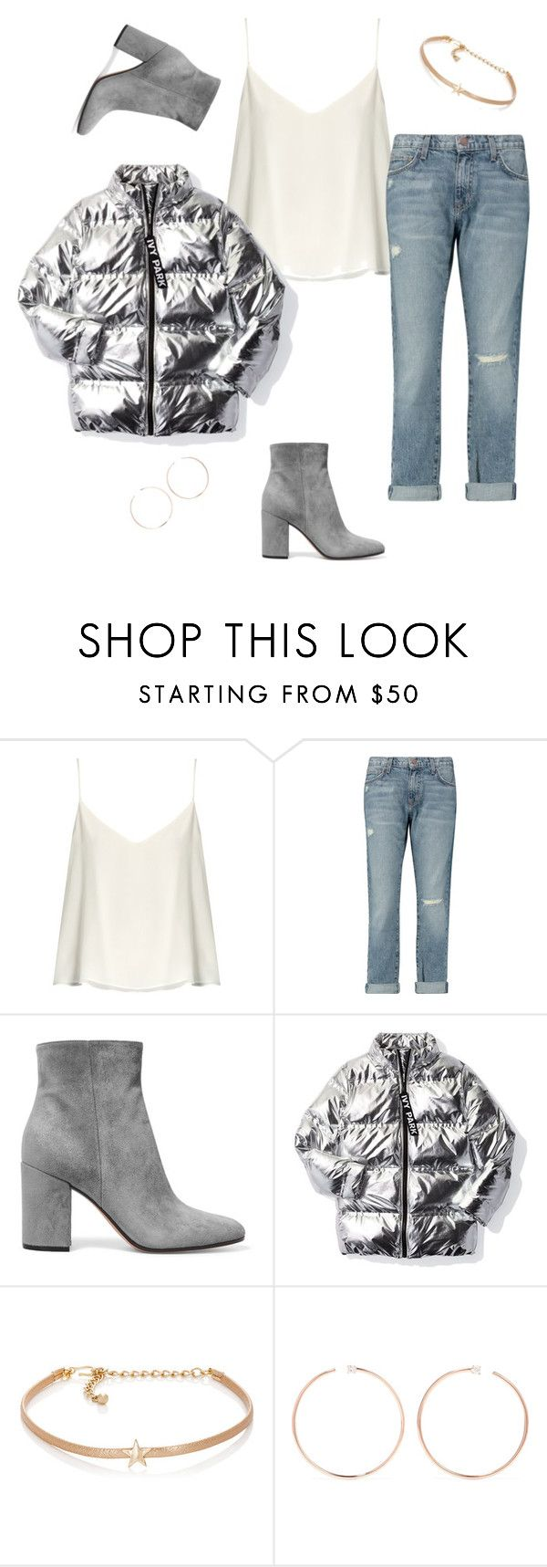 """""""#So what? I love jeans! 💙💙💋"""" by joe-khulan on Polyvore featuring Raey, Current/Elliott, Gianvito Rossi, Ivy Park, Kenneth Jay Lane and Anita Ko"""