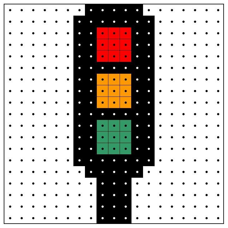 KleuterDigitaal - wb kralenplank verkeerslicht