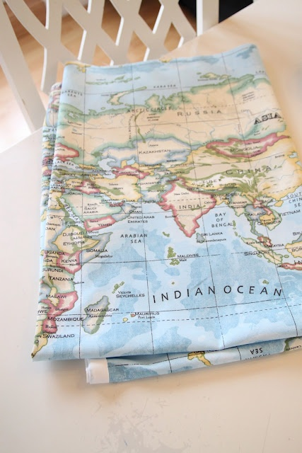 map fabric! WANT!!!!!!!!