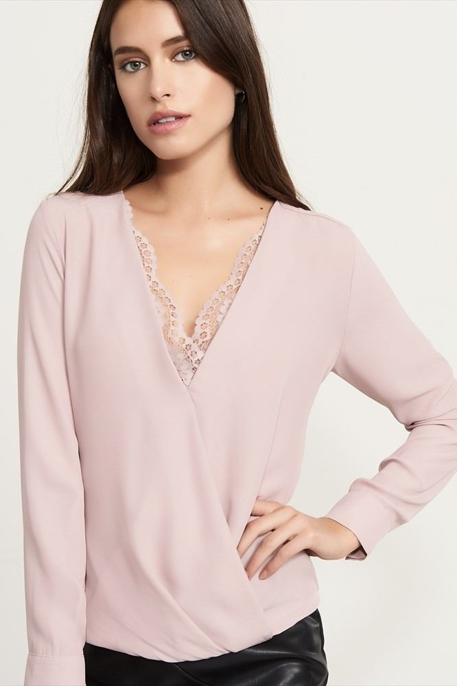 Wrap Top With Lace
