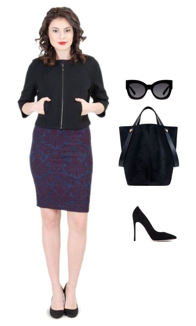 """""""Office Outfit"""" by yokko-the-fashion-store on Polyvore featuring Gianvito Rossi, Karen Walker and Mulberry"""