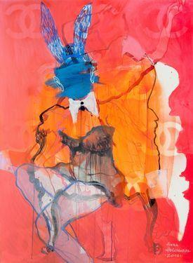 "Artist ANNA HALAREWICZ; Painting, ""FASHION VICTIM"""